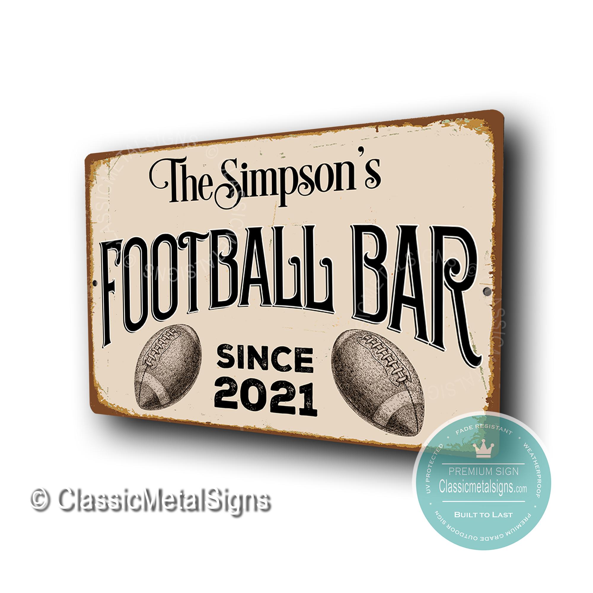 Custom Football Bar Signss