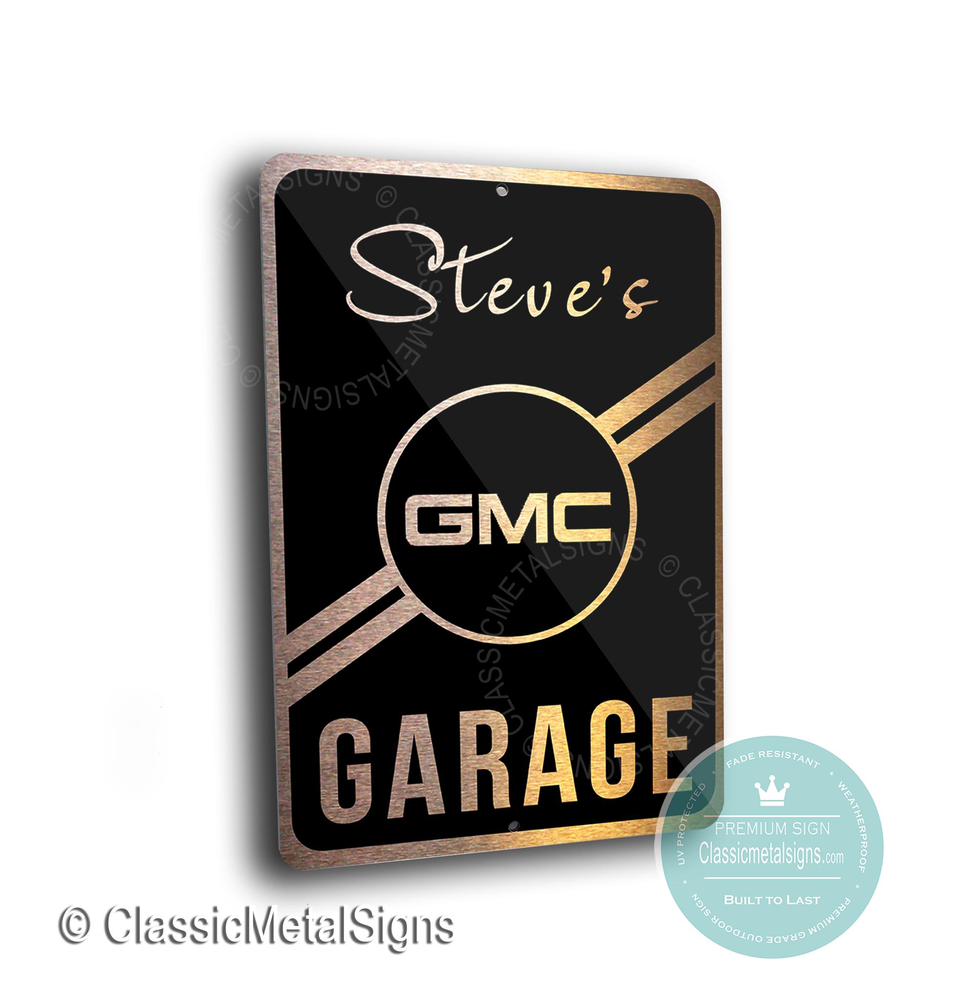 Custom GMC Garage Signs