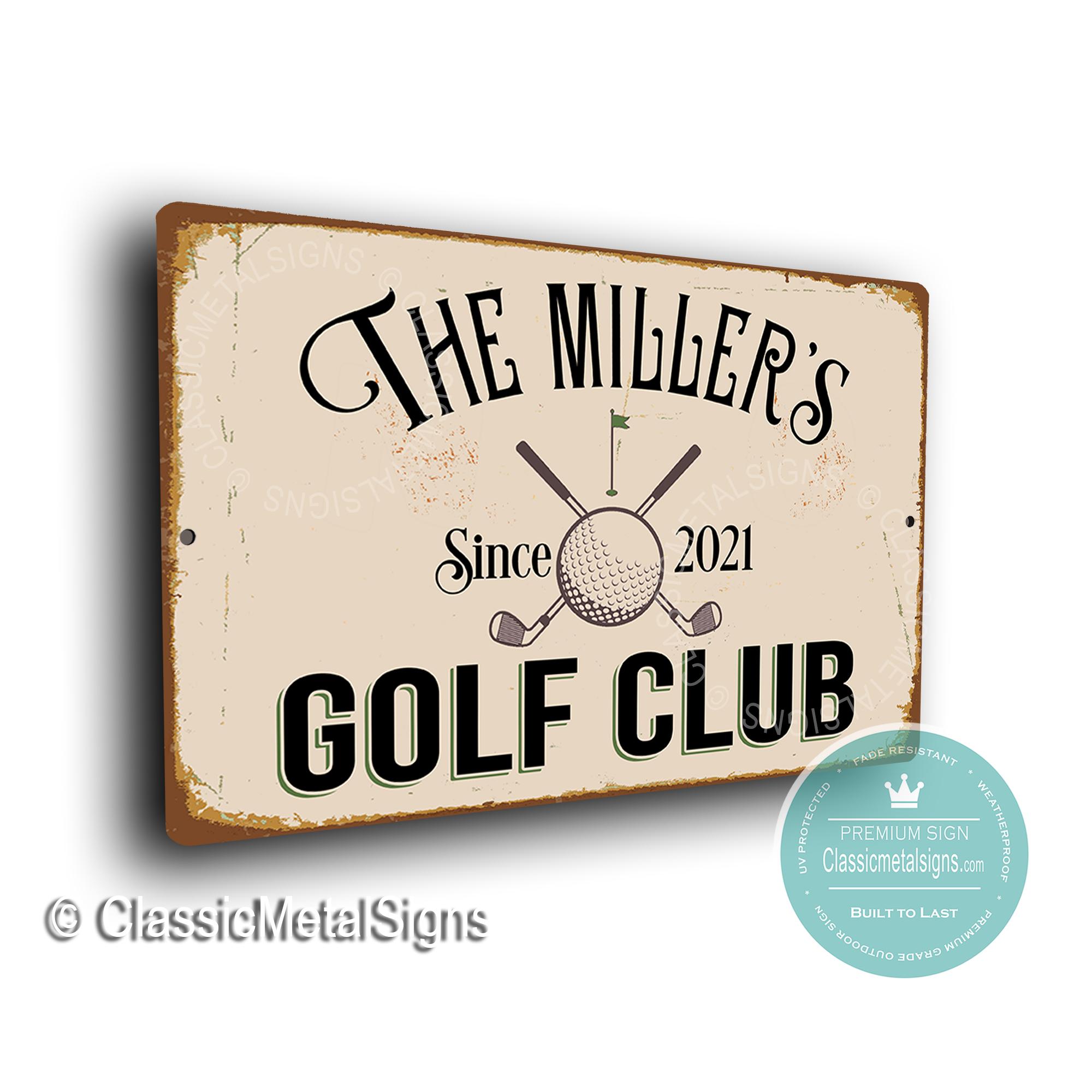 Custom Golf Club Signs