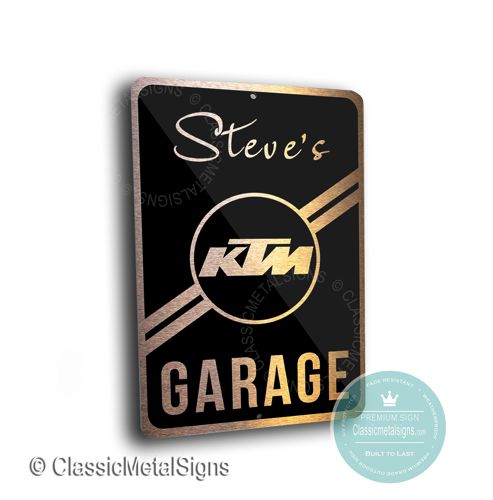 Custom KTM Garage Signs