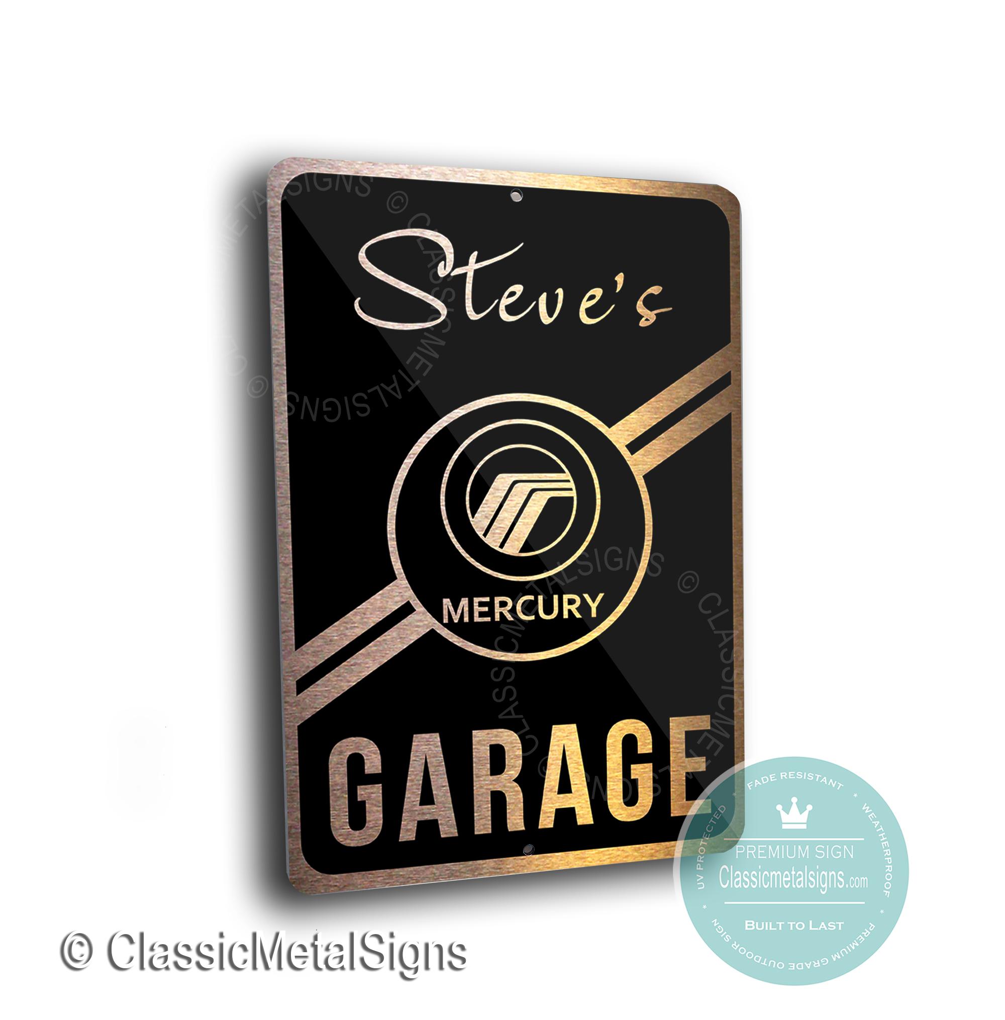 Custom Mercury Garage Signs