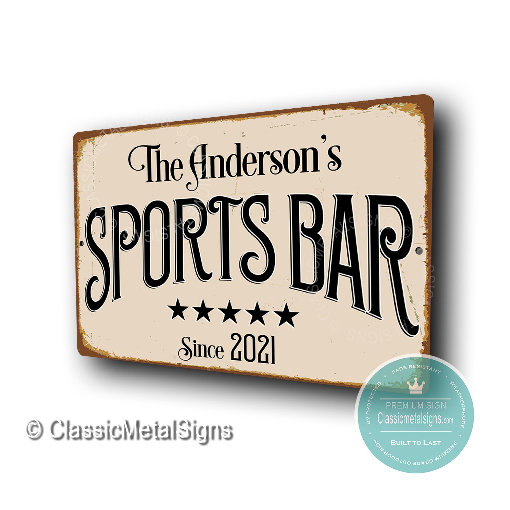 Custom Sports Bar Signss