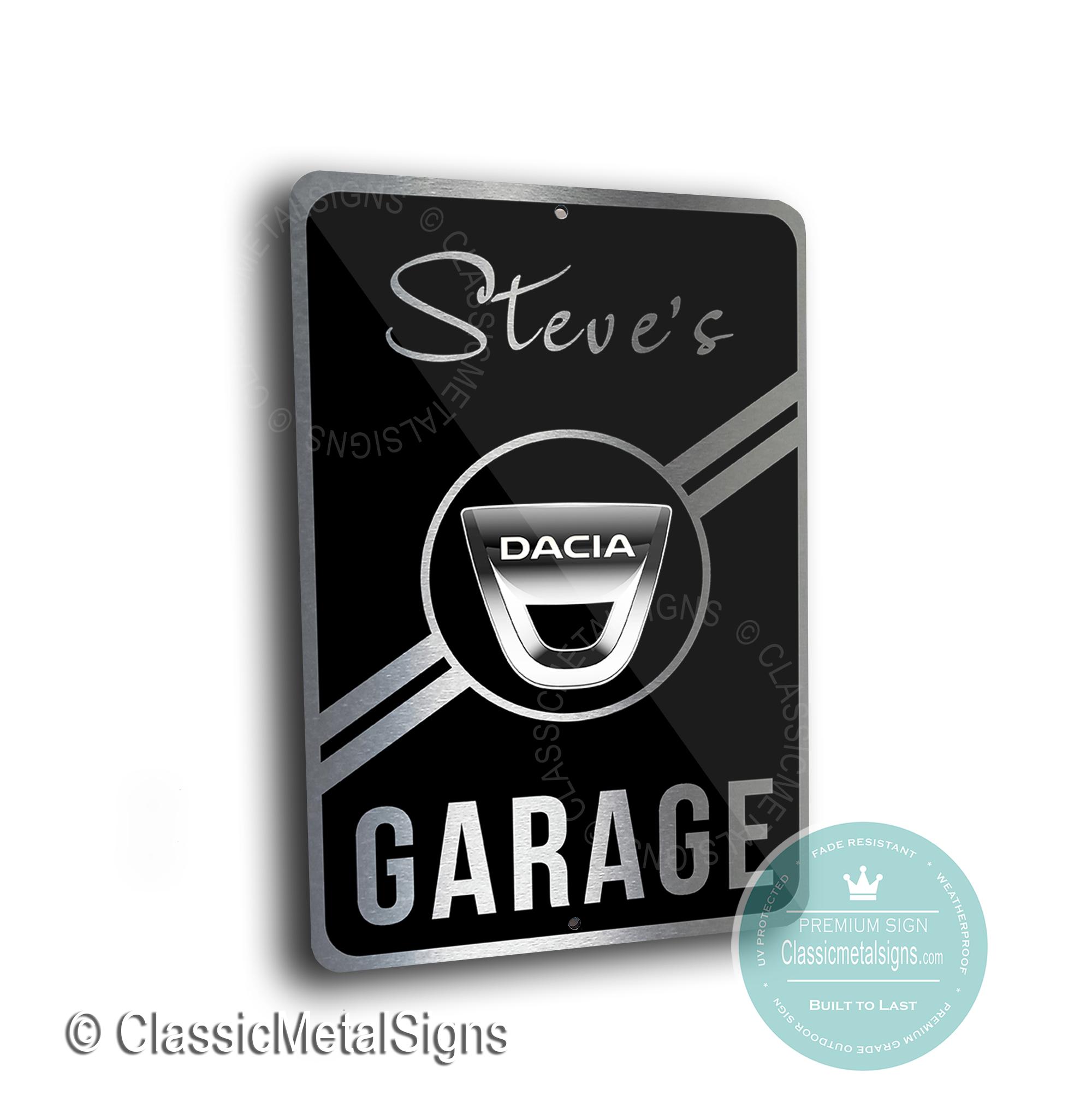 Dacia Garage Signs