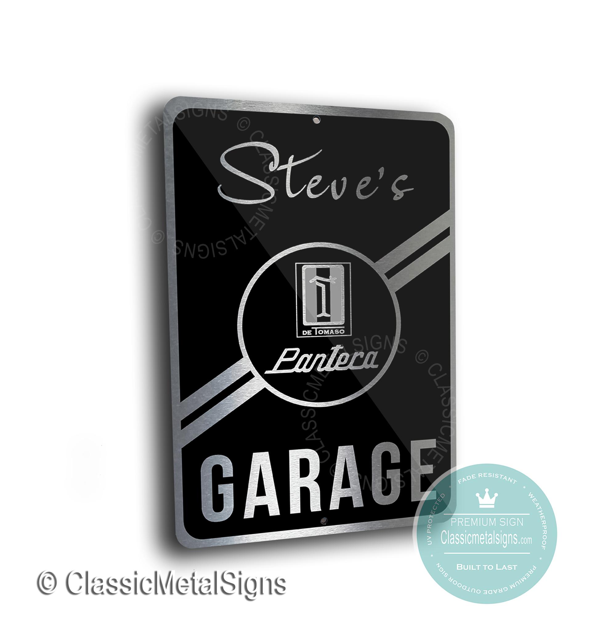 De Tomaso Garage Signs