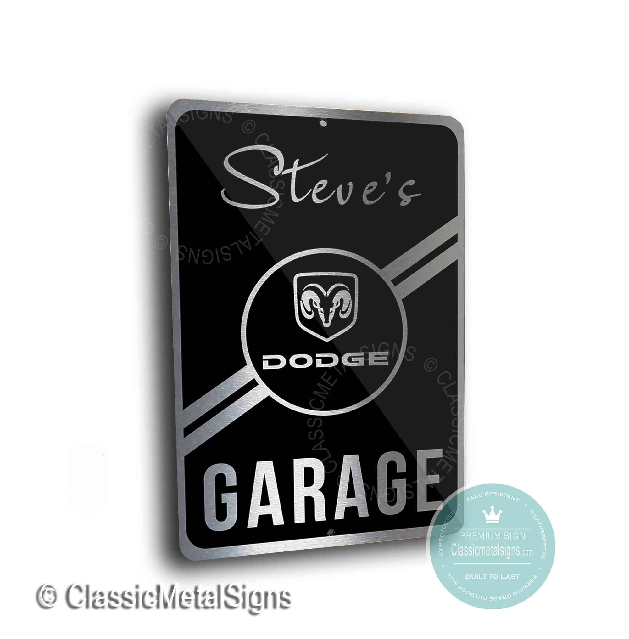Dodge Garage Sign