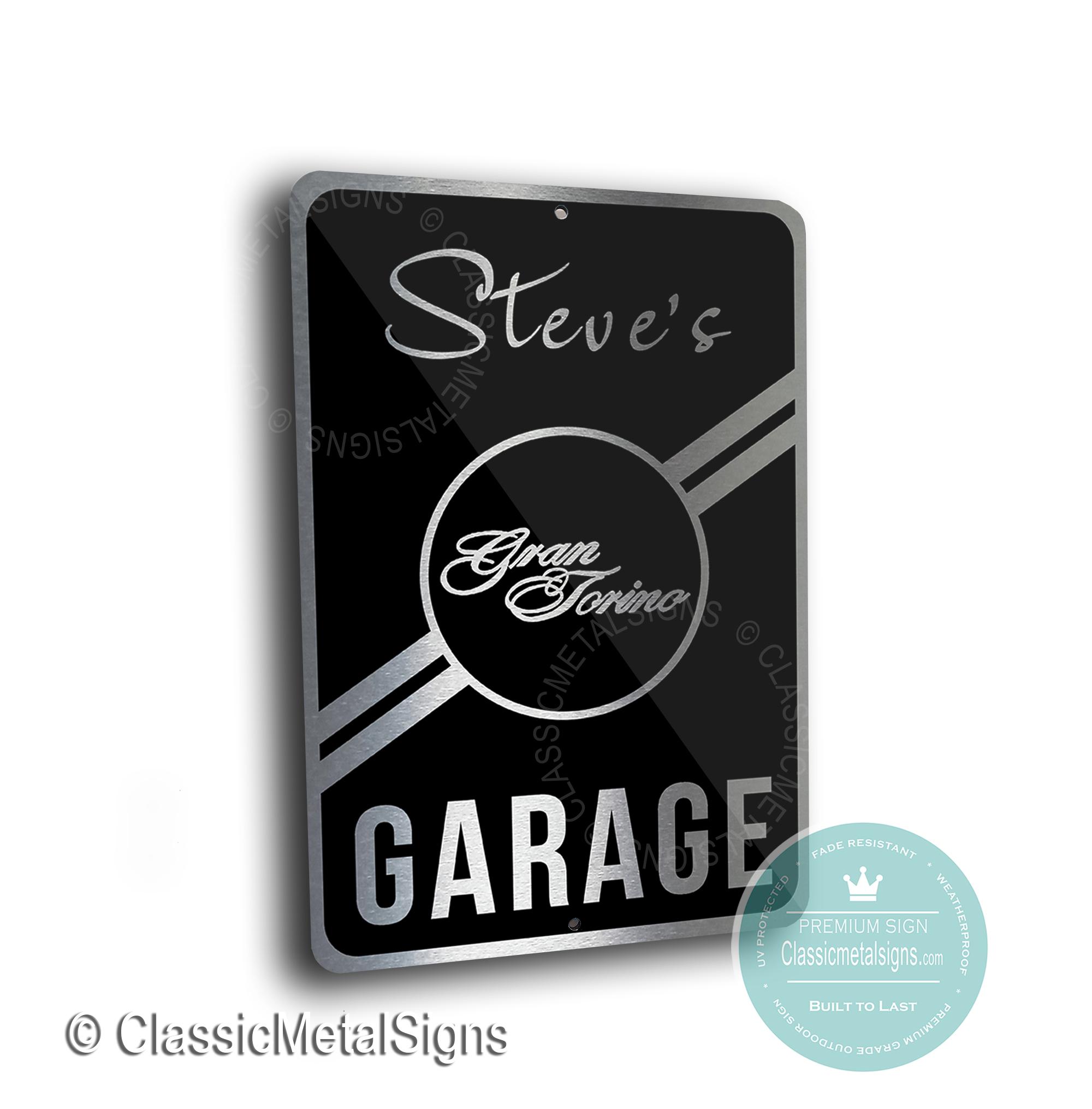 Gran Torino Garage Signs