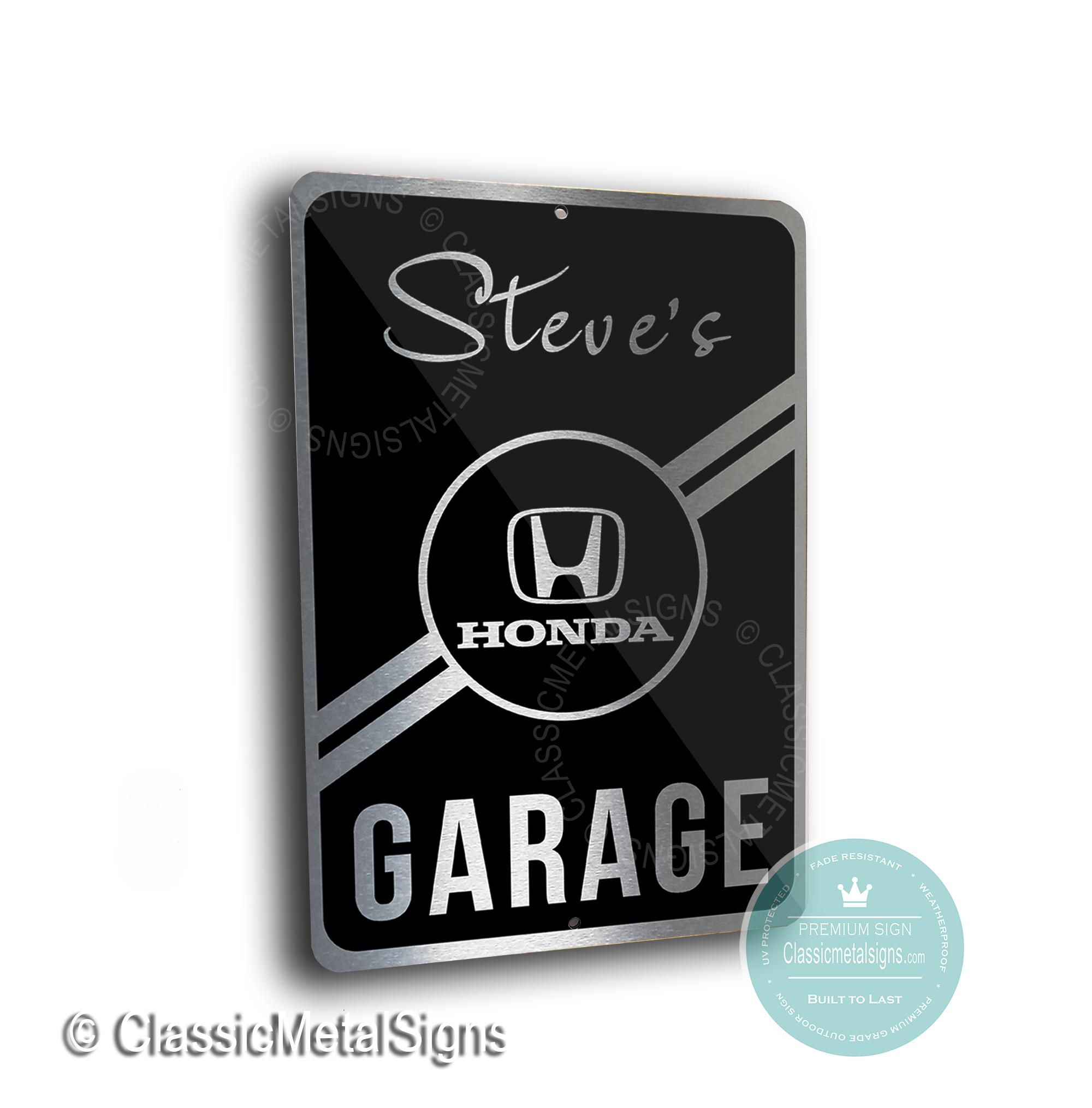 Honda Garage Signs