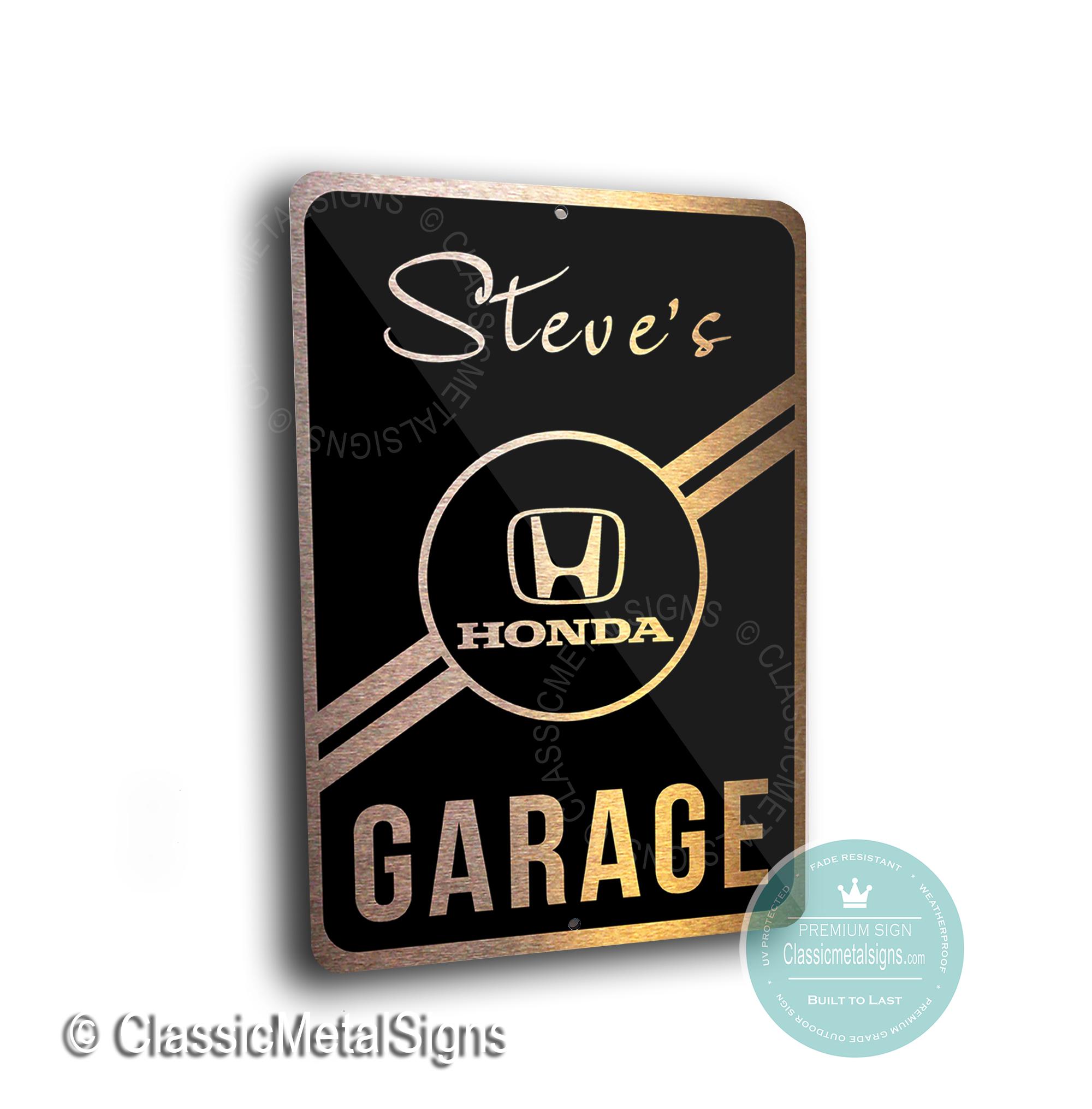 Honda Garage Sign