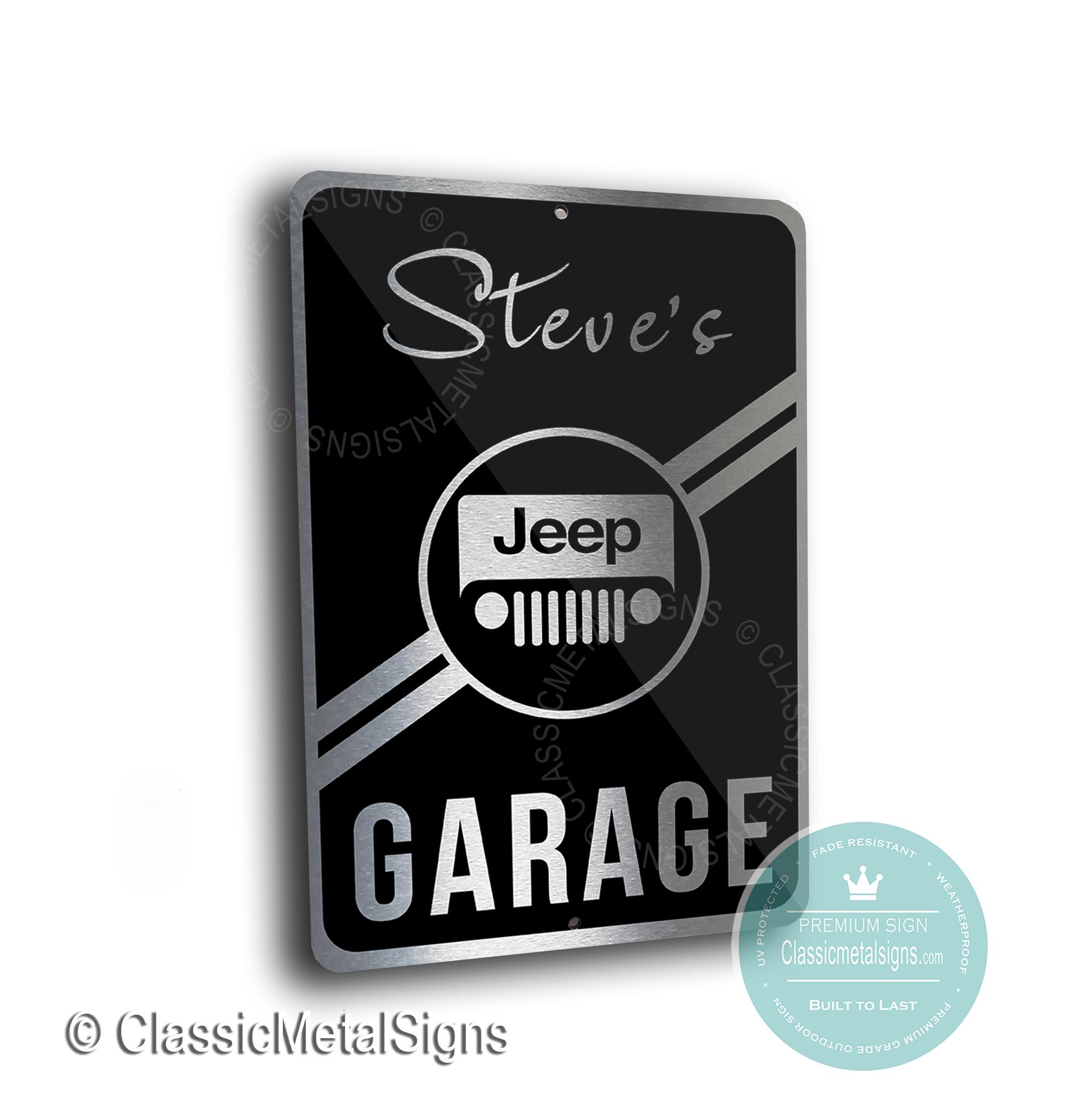 Jeep Garage Signs