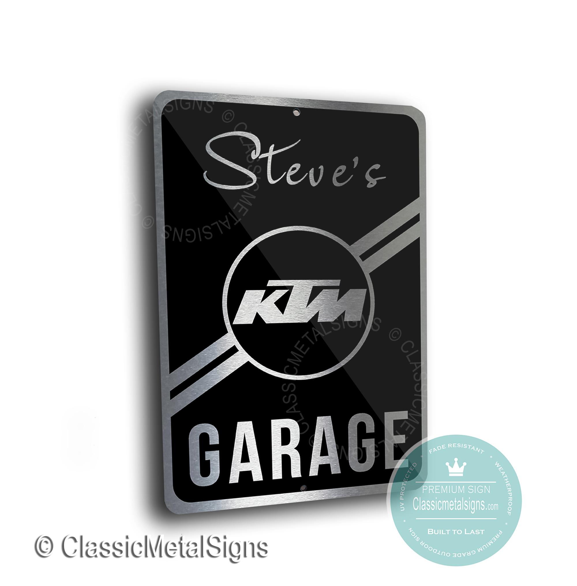 KTM Garage Signs