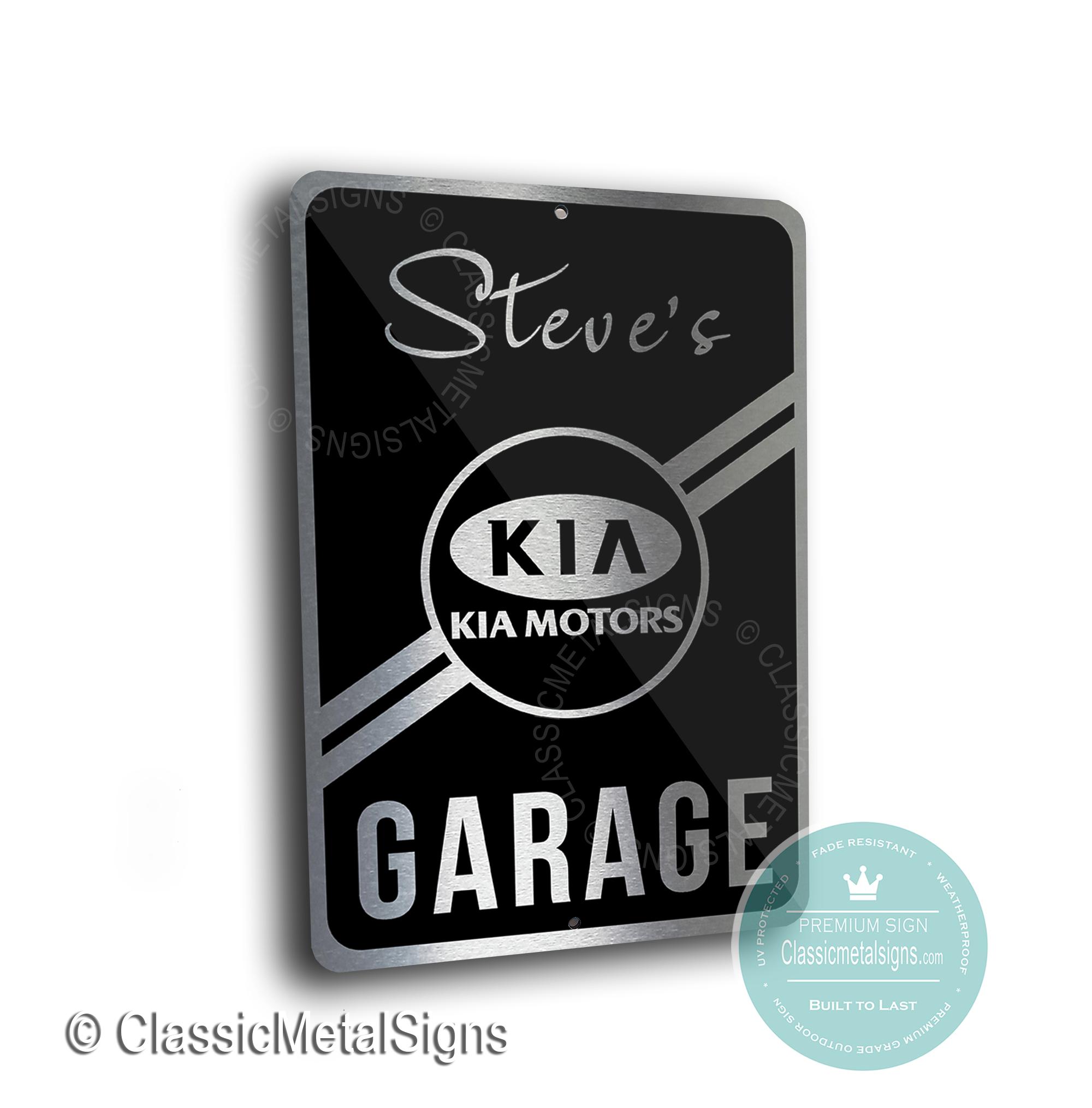 Kia Garage Signs