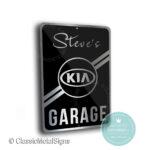 Kia Garage Sign