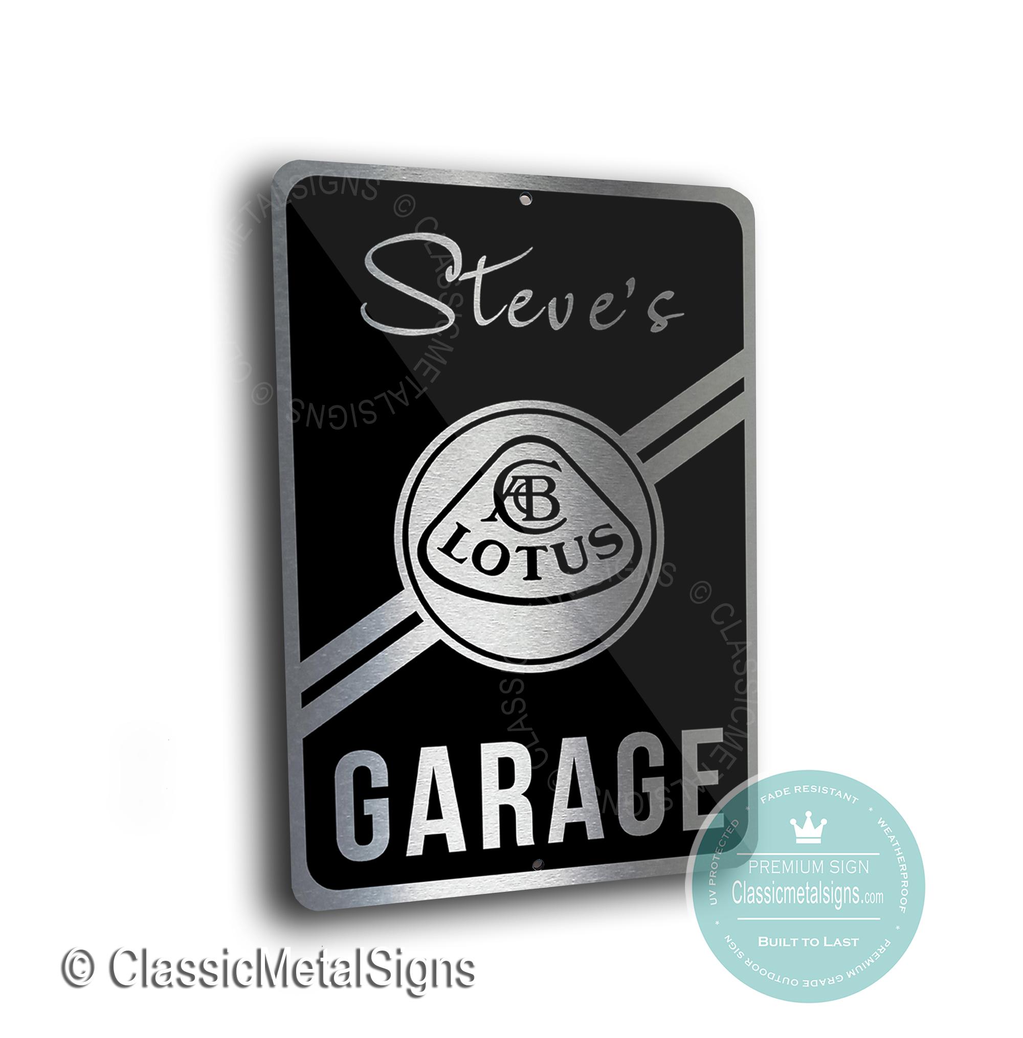 Lotus Garage Signs