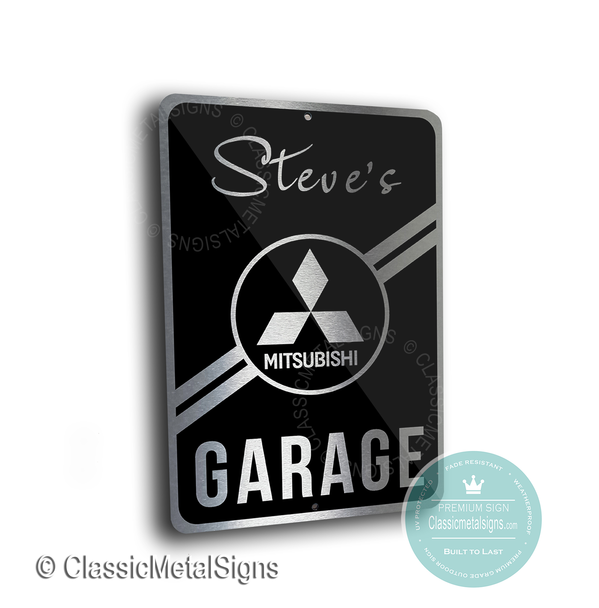Mitsubishi Garage Signs