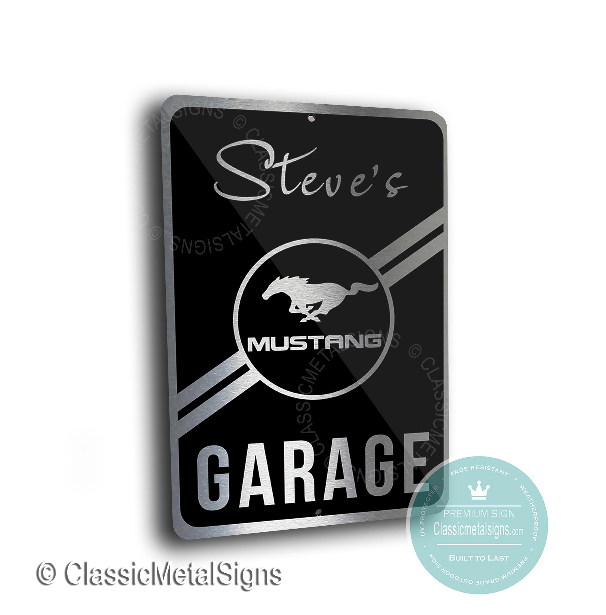 Mustang Garage Signs
