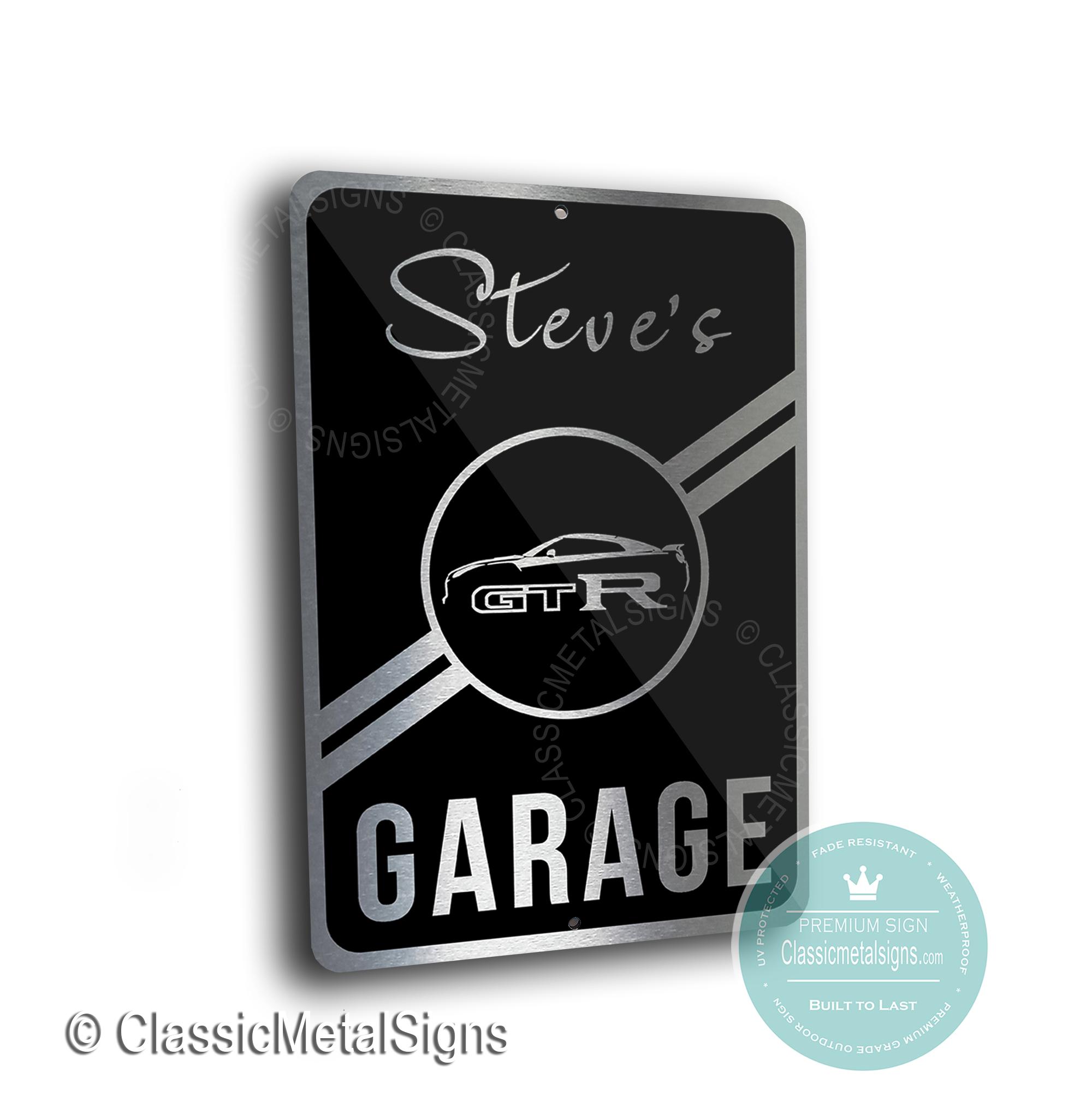 Nissan GTR Garage Signs