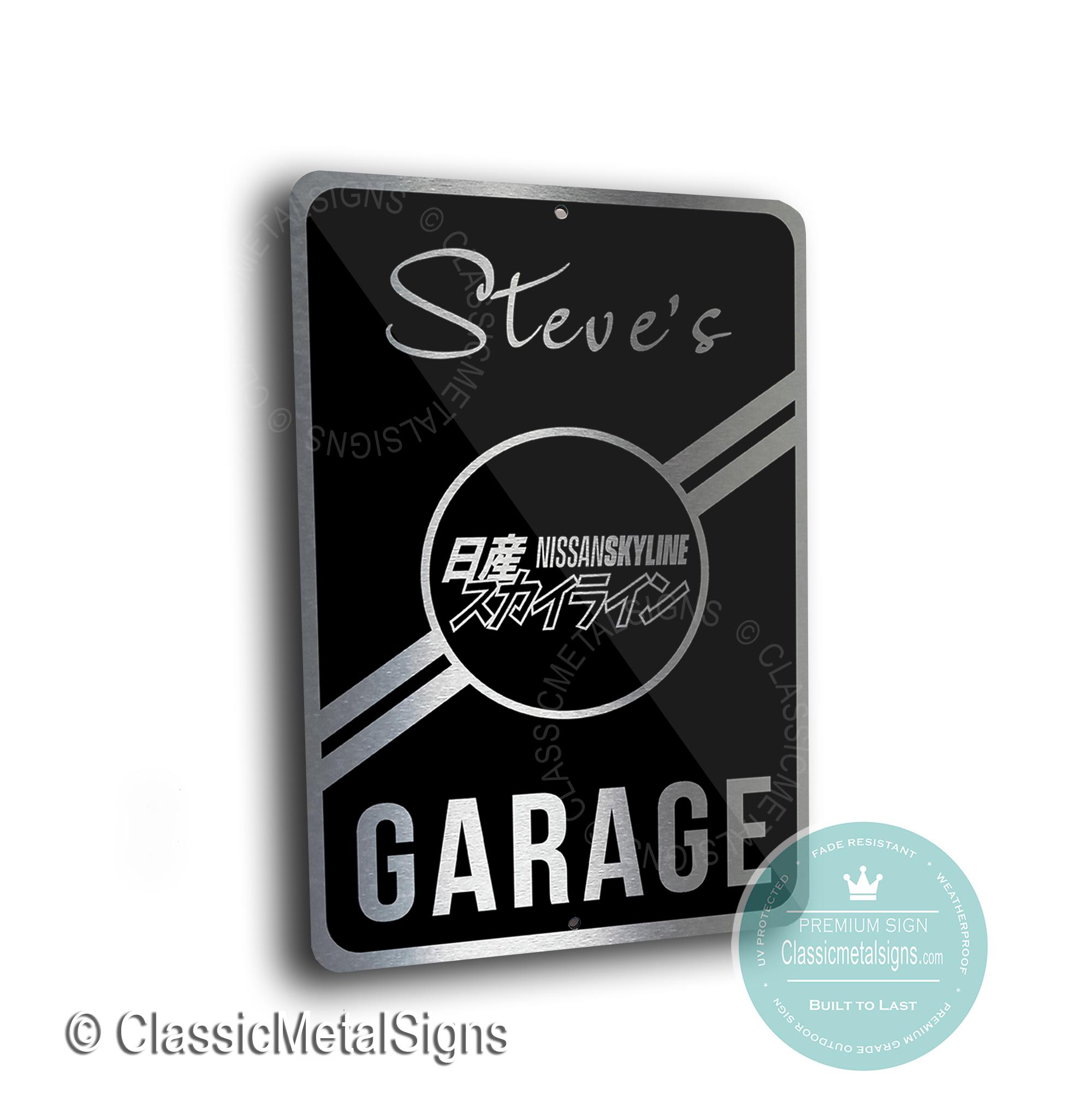 Nissan Skyline Garage Signs