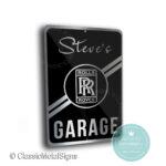Rolls Royce Garage Sign