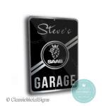 Saab Garage Sign
