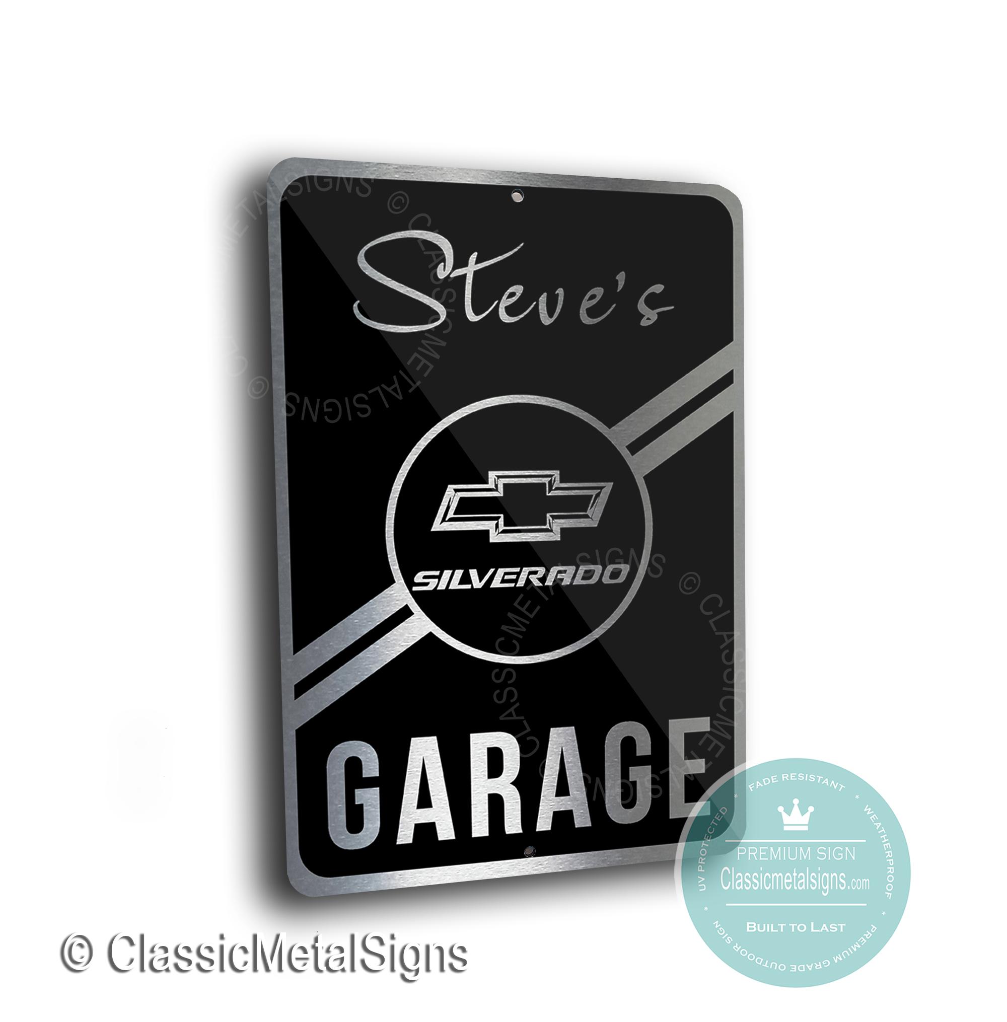 Silverado Garage Signs