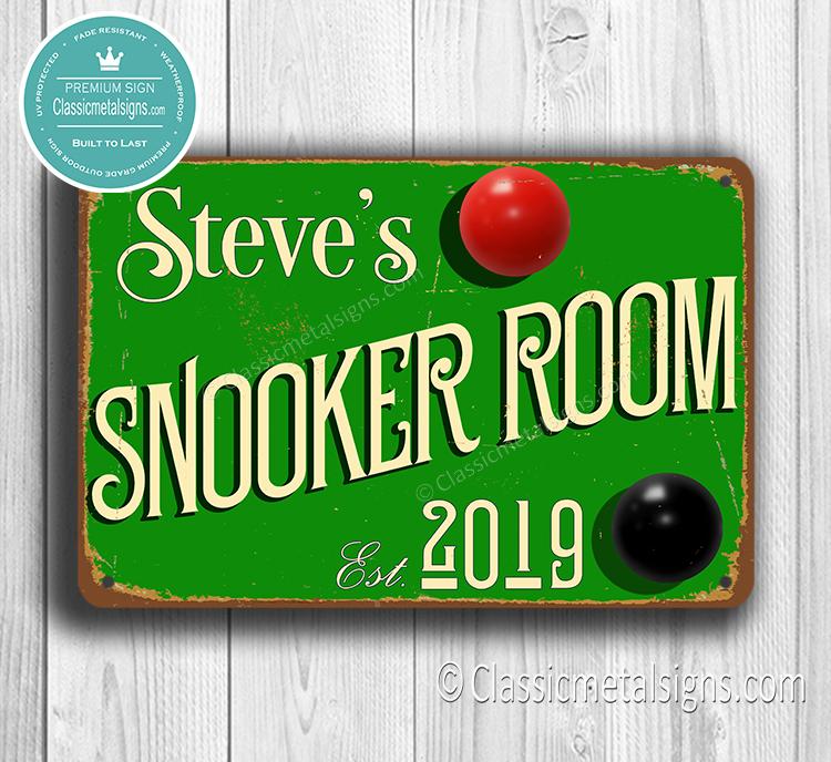 Custom Snooker Sign