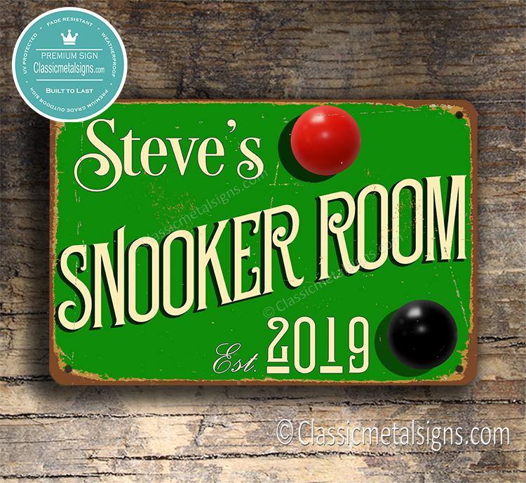 Snooker Room Sign