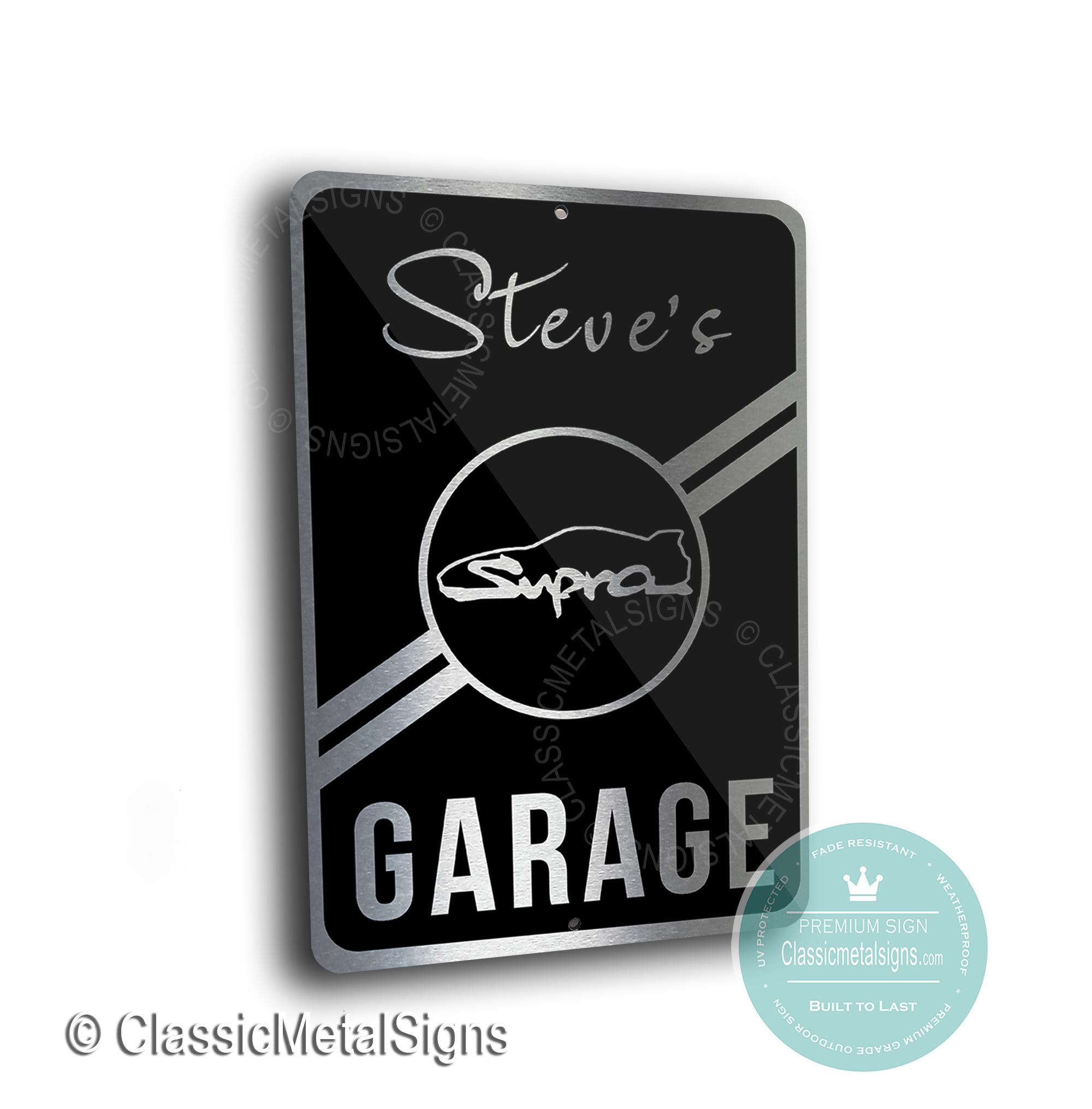 Supra Garage Signs
