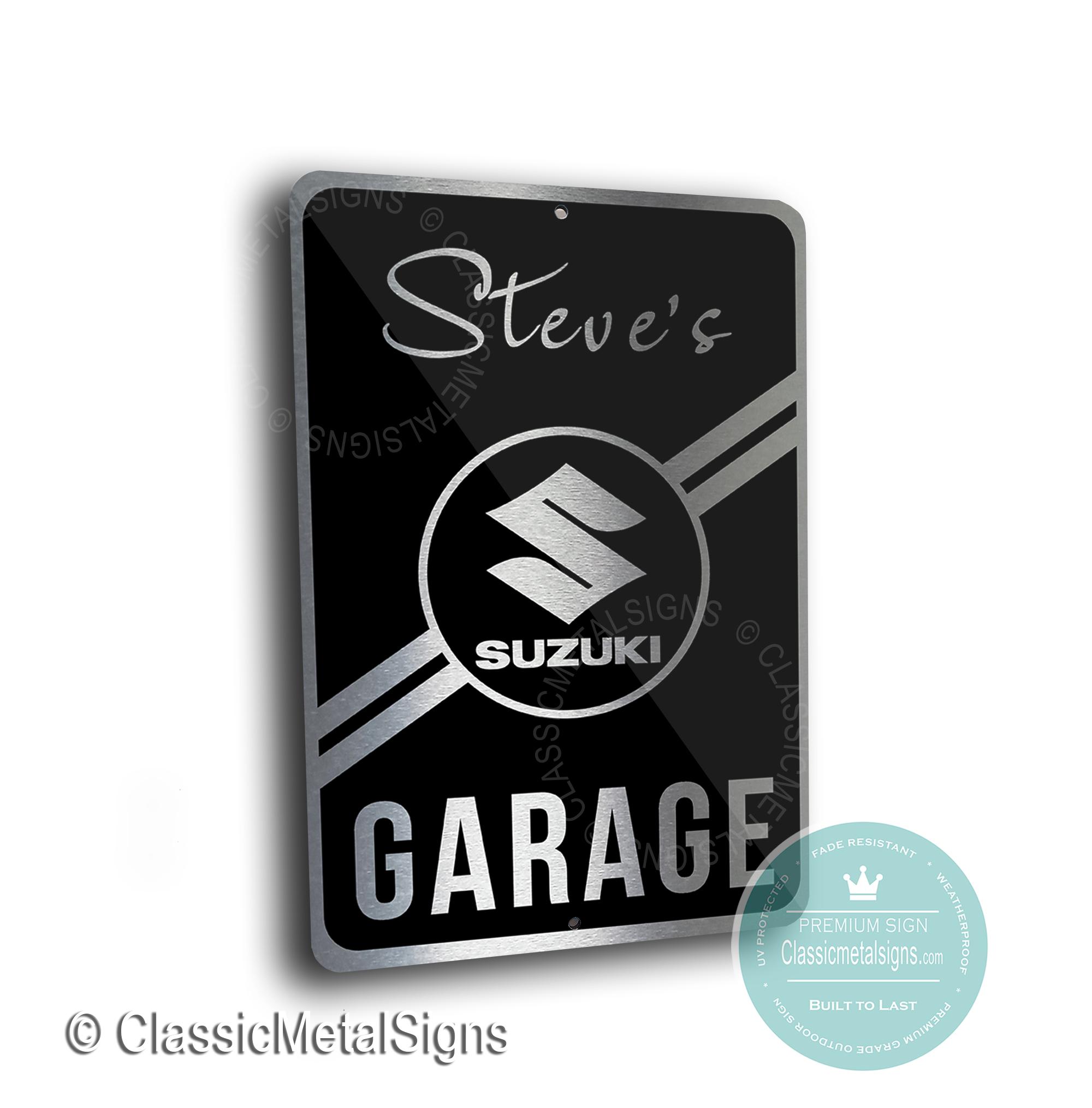 Suzuki Garage Signs