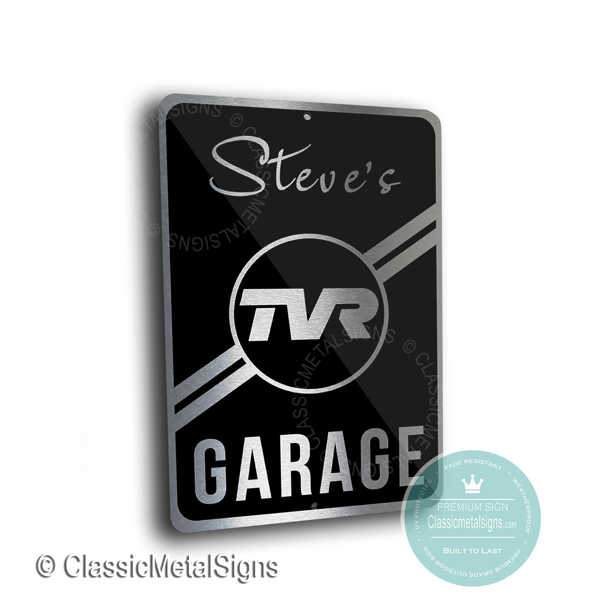 TVR Garage Signs
