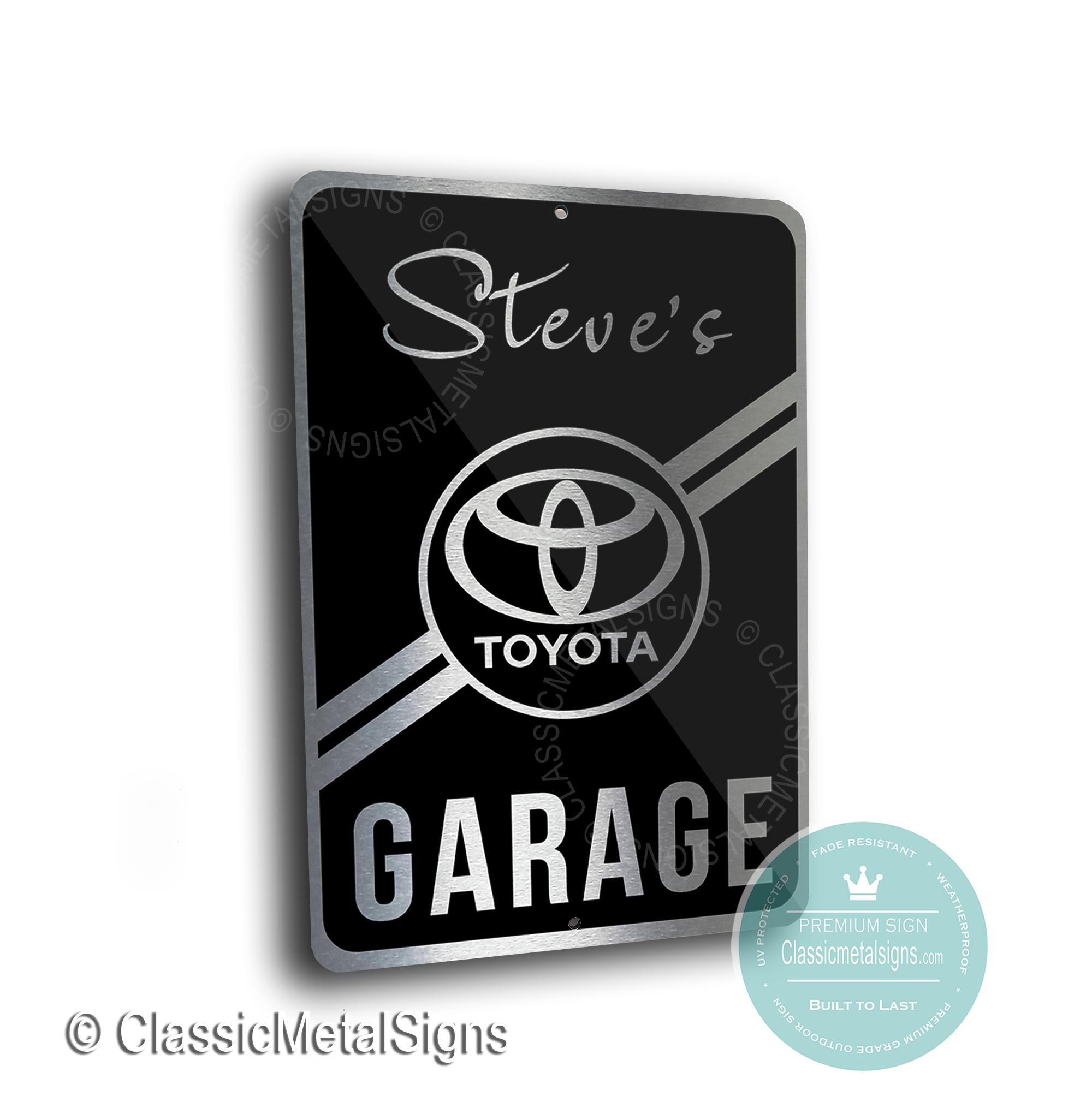 Toyota Garage Signs