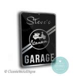 Vespa Garage Sign