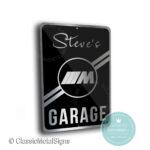 BMW M Garage Sign