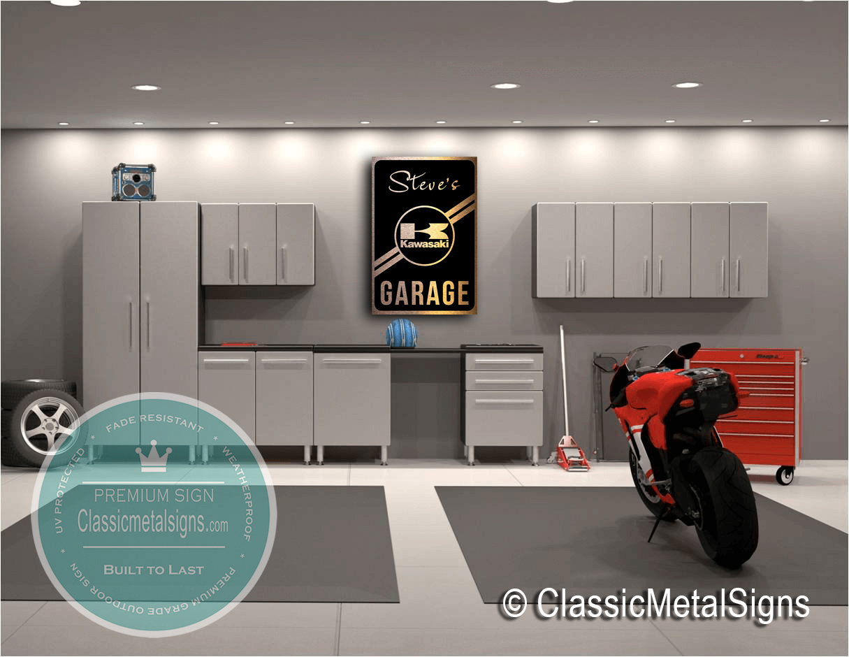 Classic Metal Signs Motorcycle Garage Signs