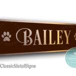 Custom Dog Name Signs