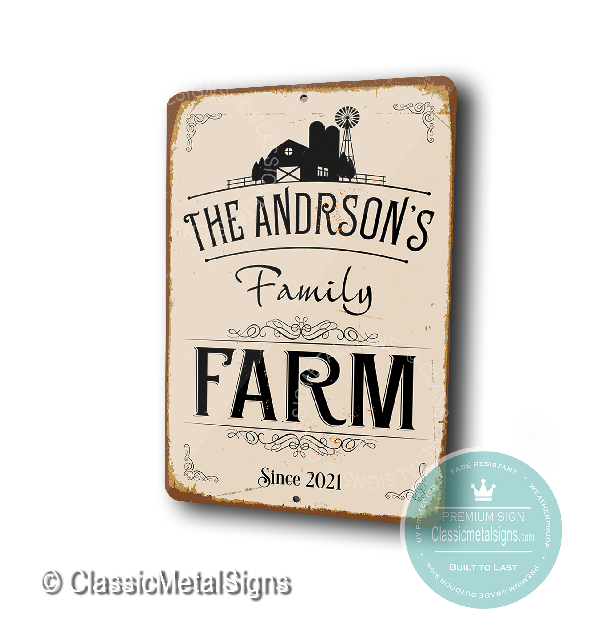 Custom Family Farm signs