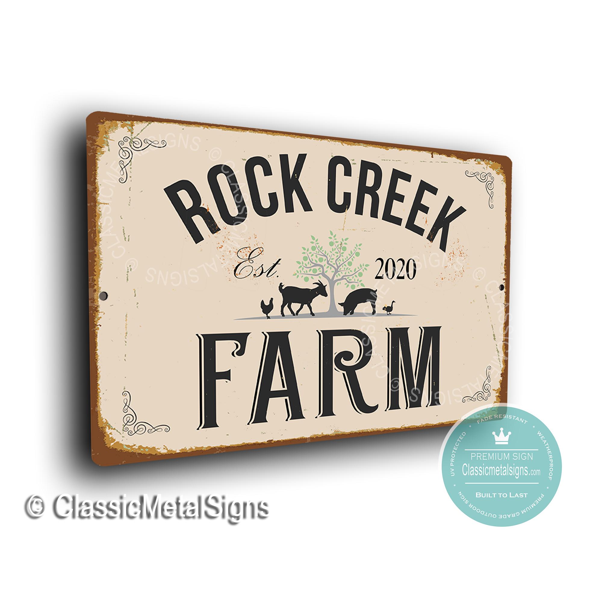 Custom Farm Name Sign