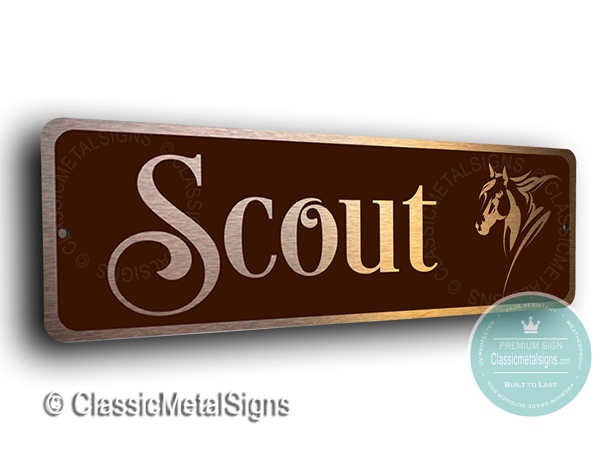 Custom Horse Name Sign