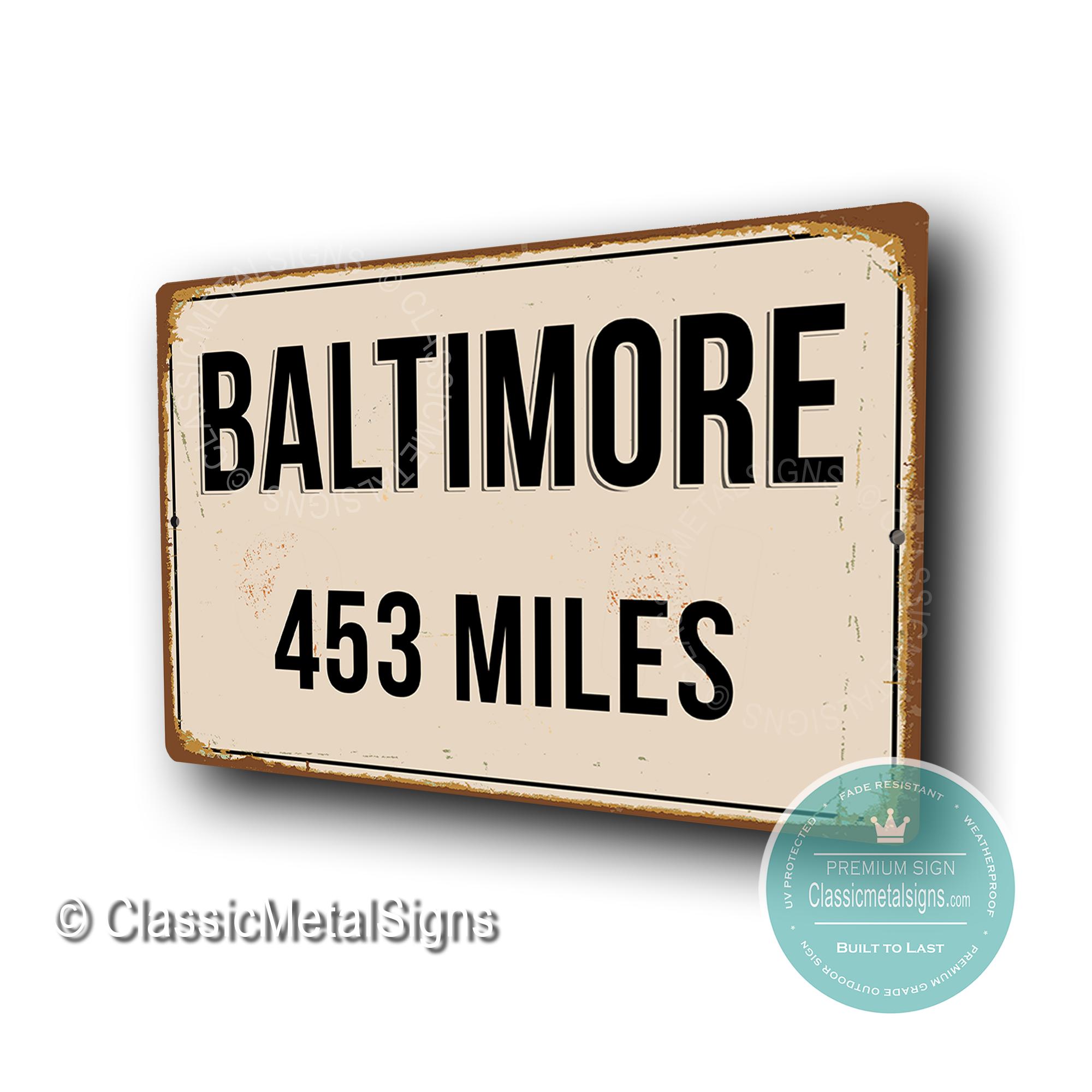 Baltimore Street Signs