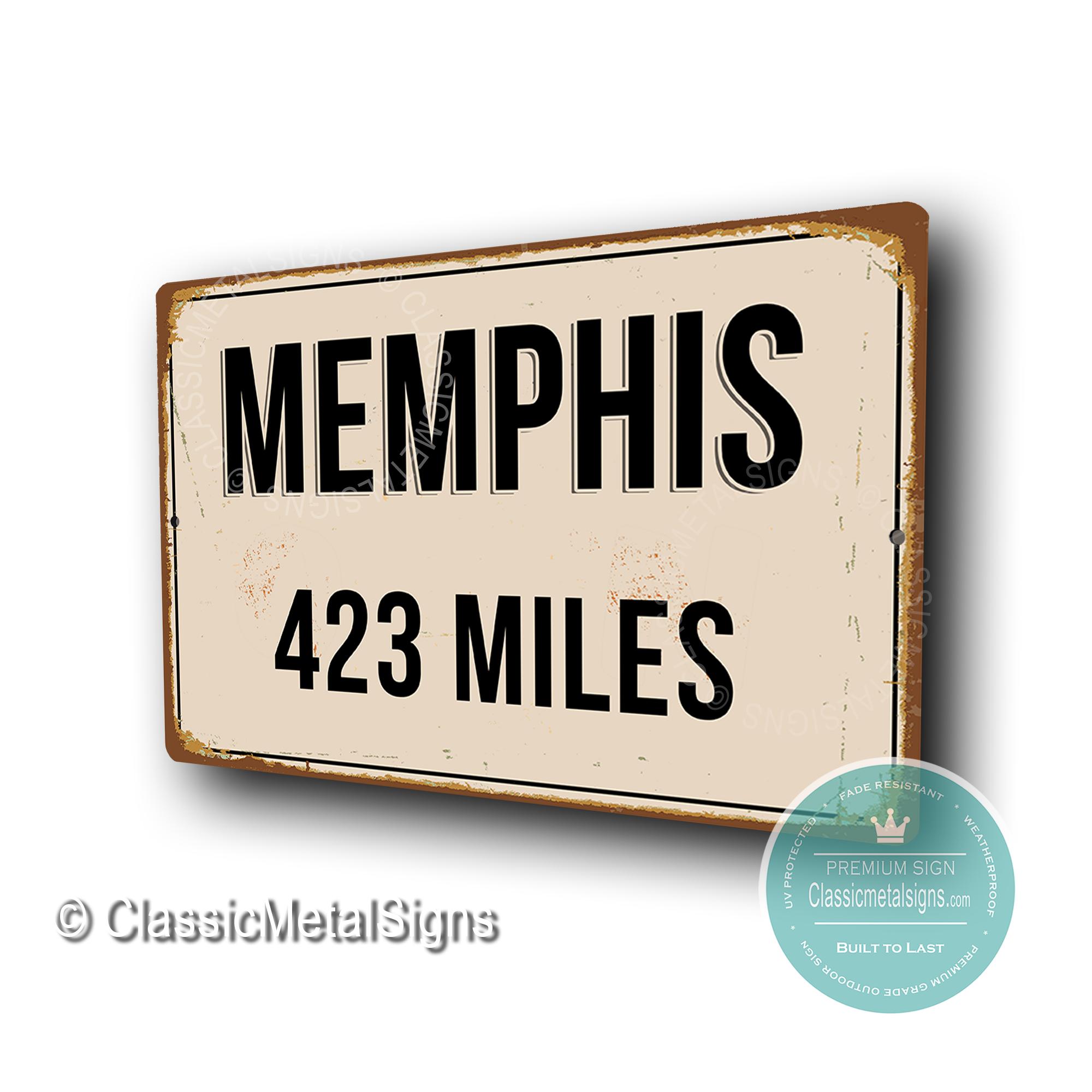 Memphis Street Sign