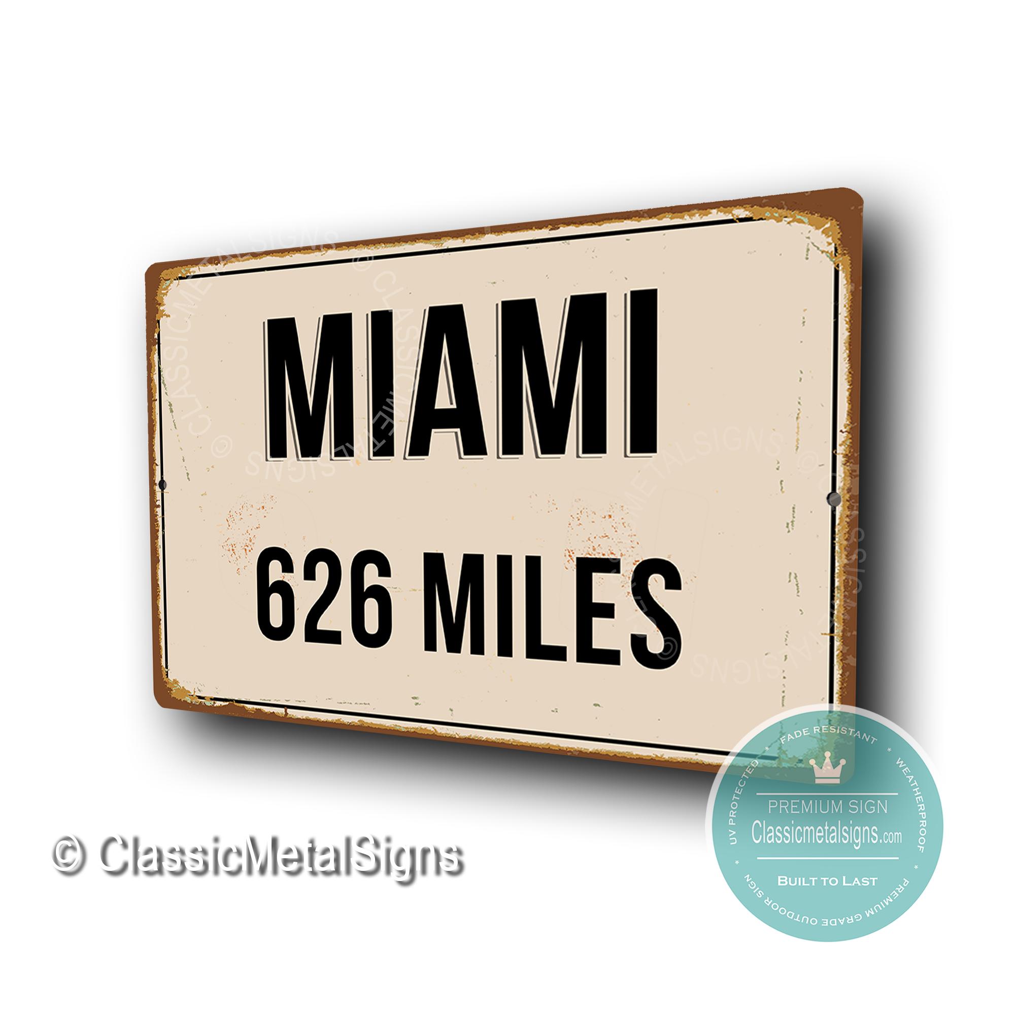 Miami Street Sign