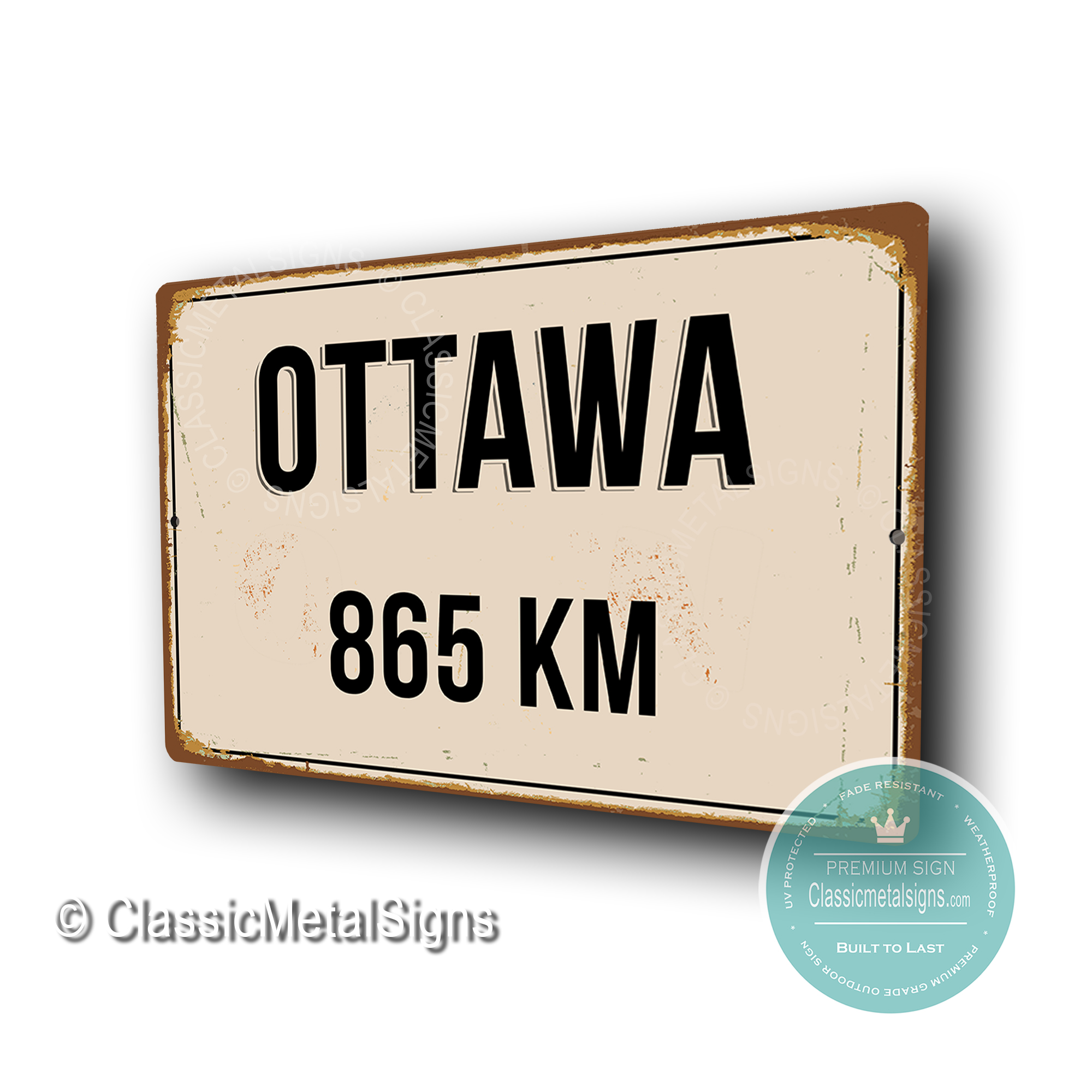 Ottawa Distance Sign