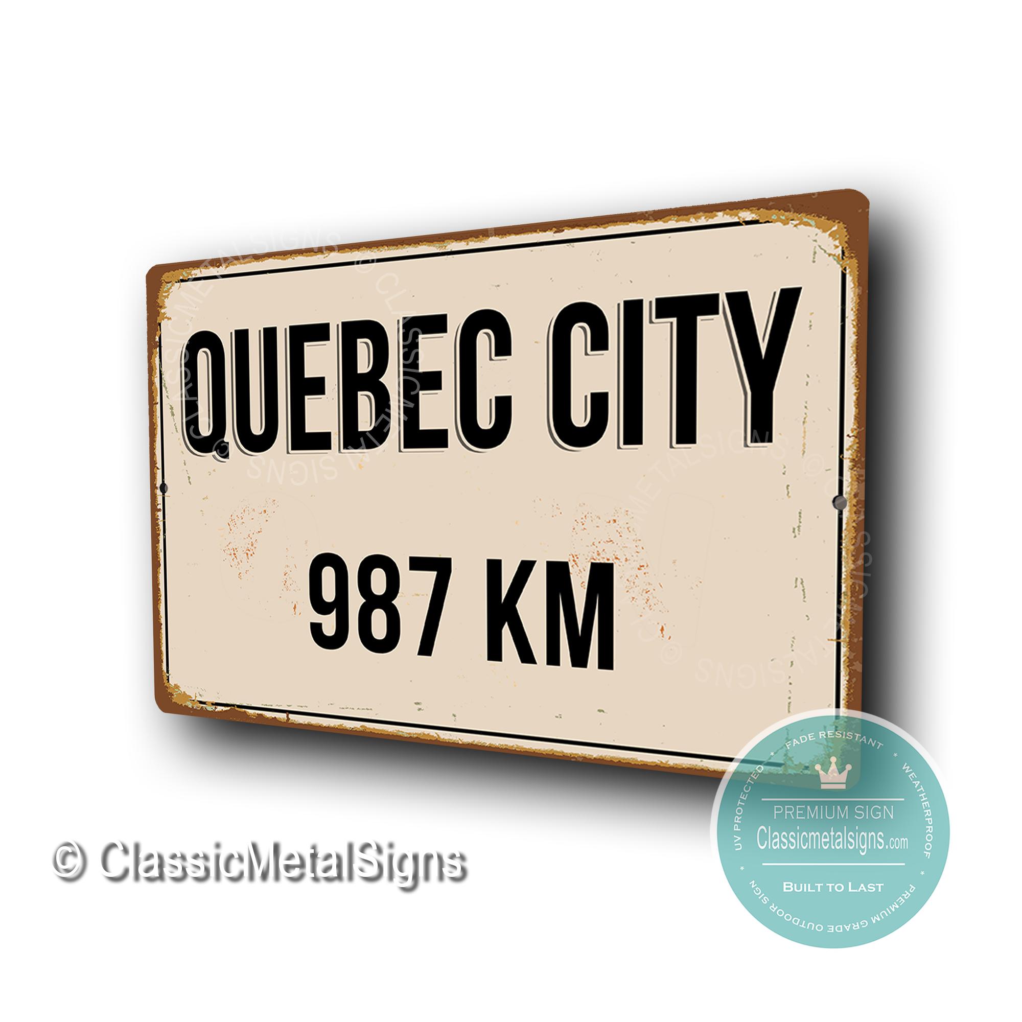 Quebec Distance Sign
