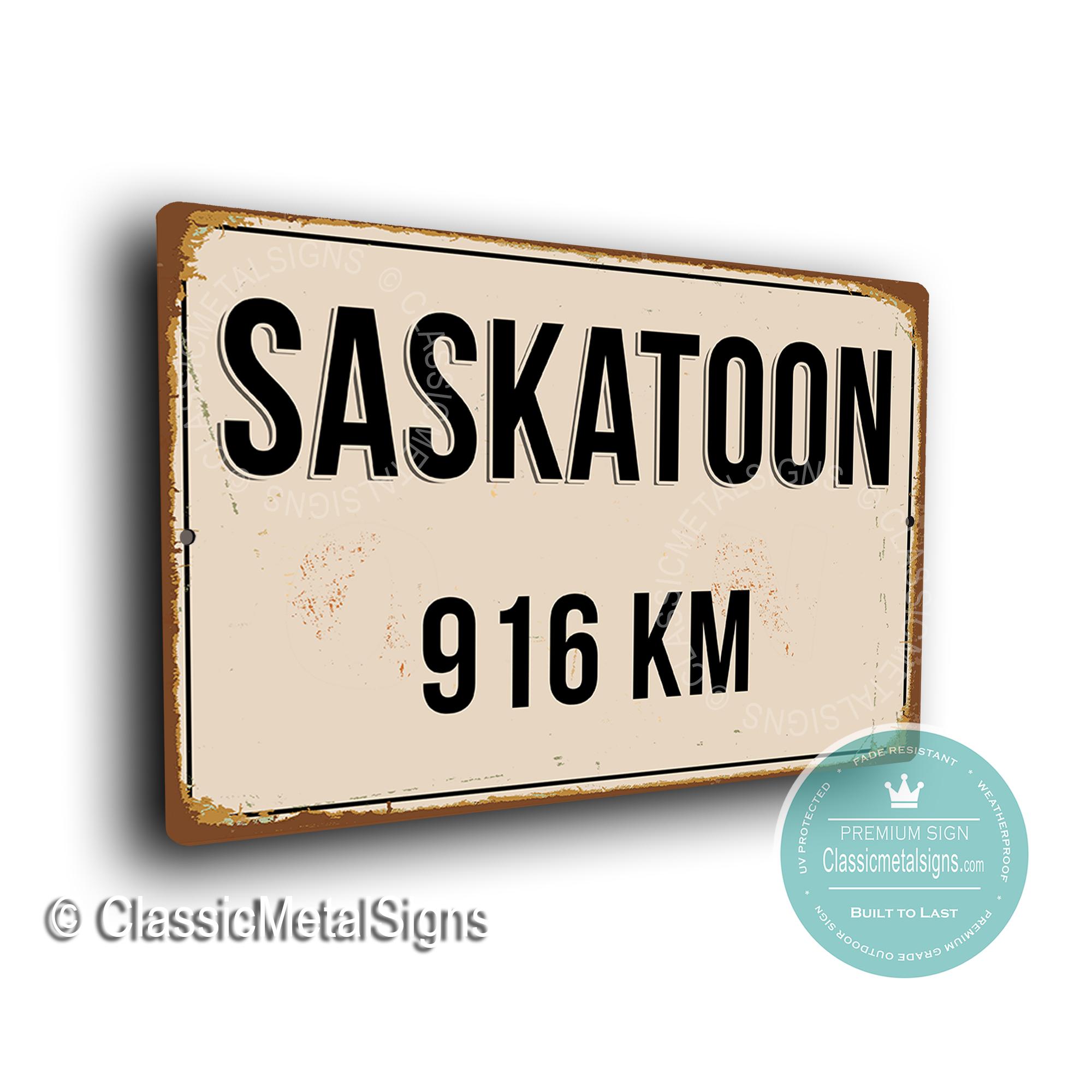 Saskatoon Street Sign
