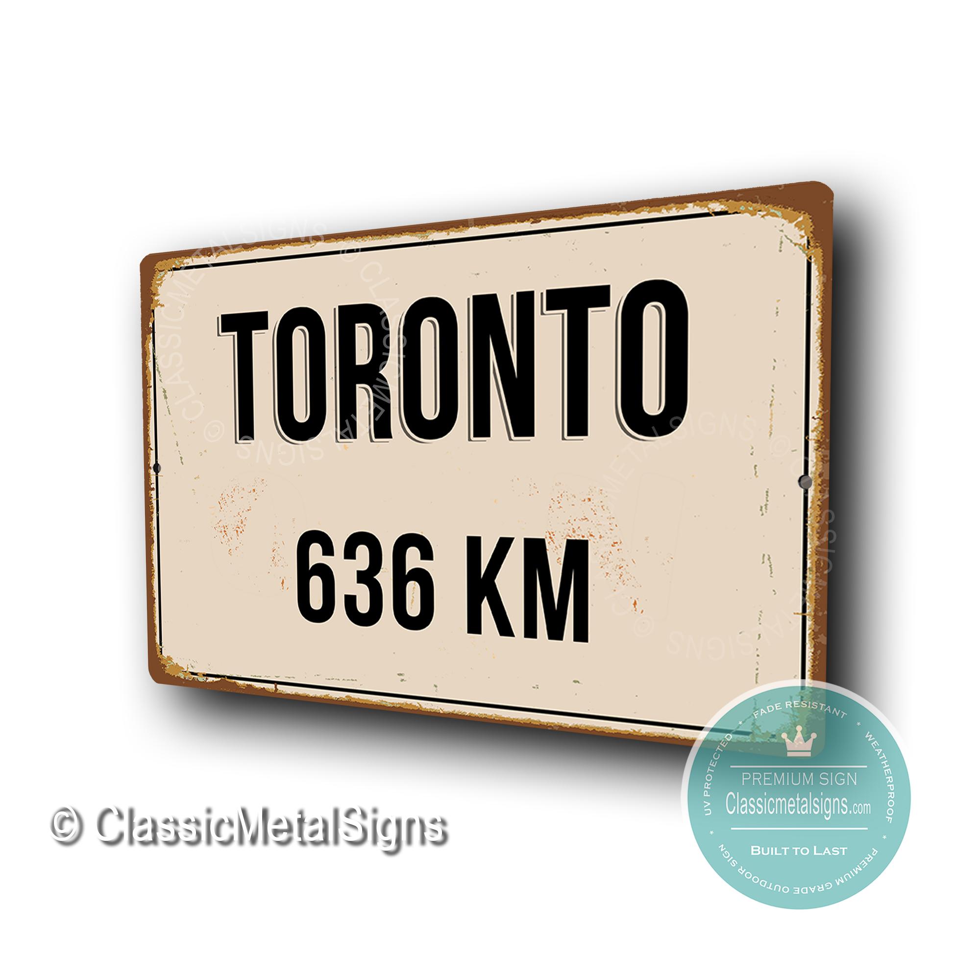 Toronto Distance Sign