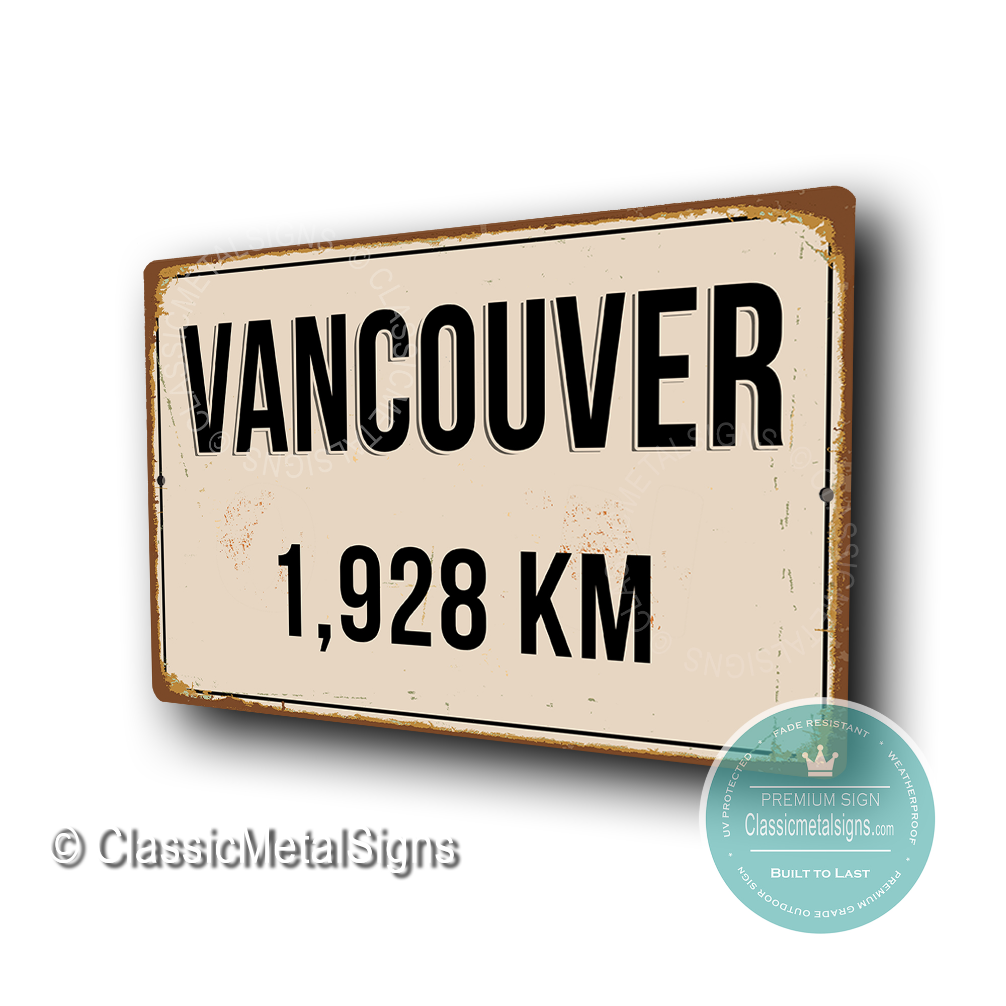 Vancouver Distance Sign