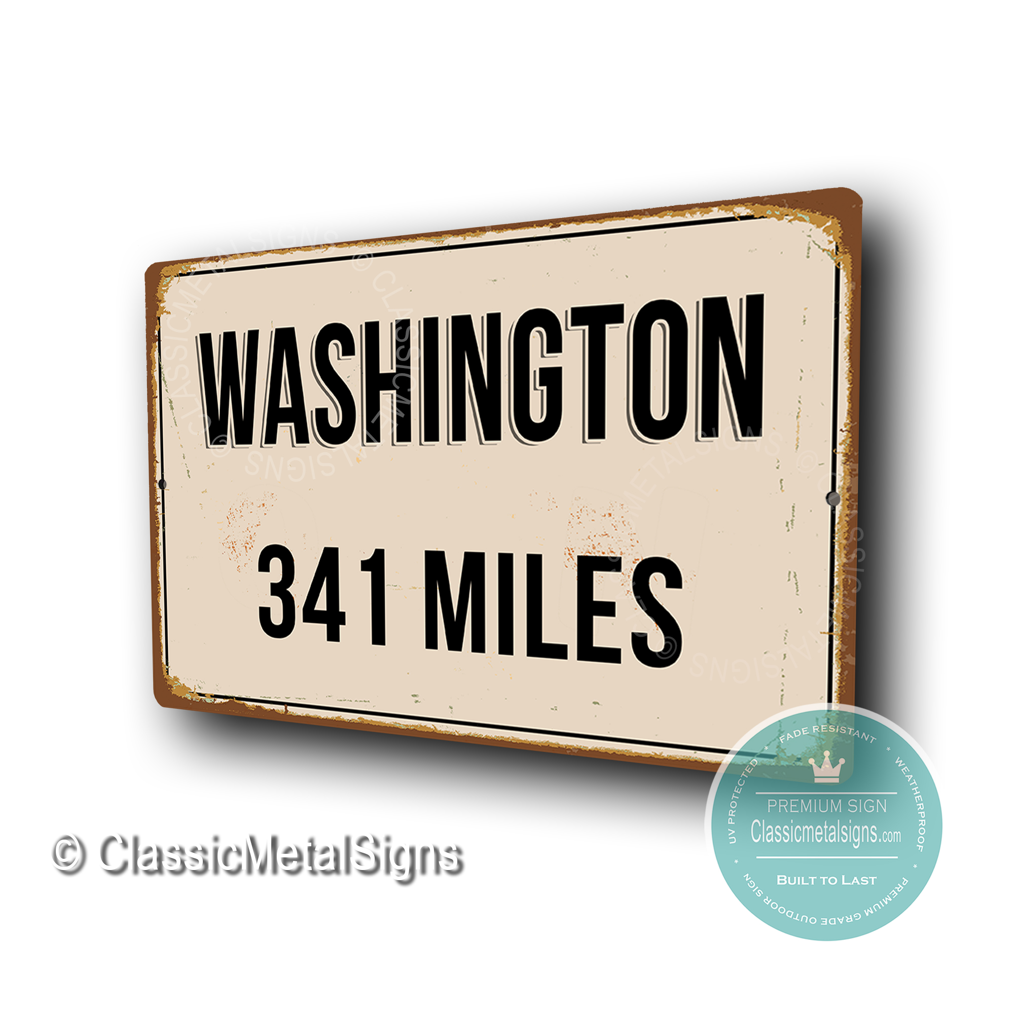 Washington Distance Sign