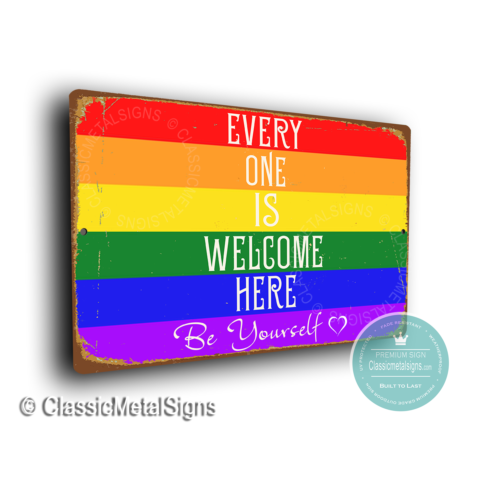 LGBT Welcome Sign